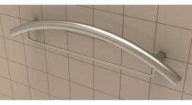 "24"" Combination Curved Grab Bar - Contemporary"